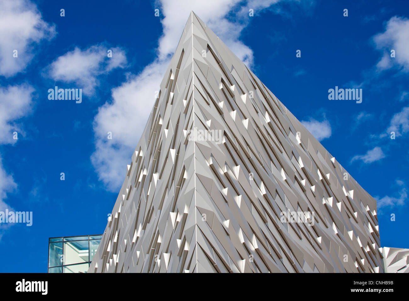 Detail of the Titanic Museum in Belfast Northern Ireland - Stock Image