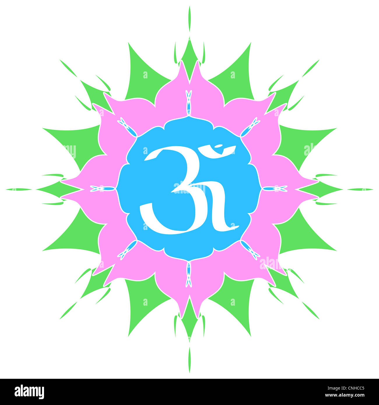 The divine om symbol on lotus flower stock photo 47711445 alamy the divine om symbol on lotus flower mightylinksfo