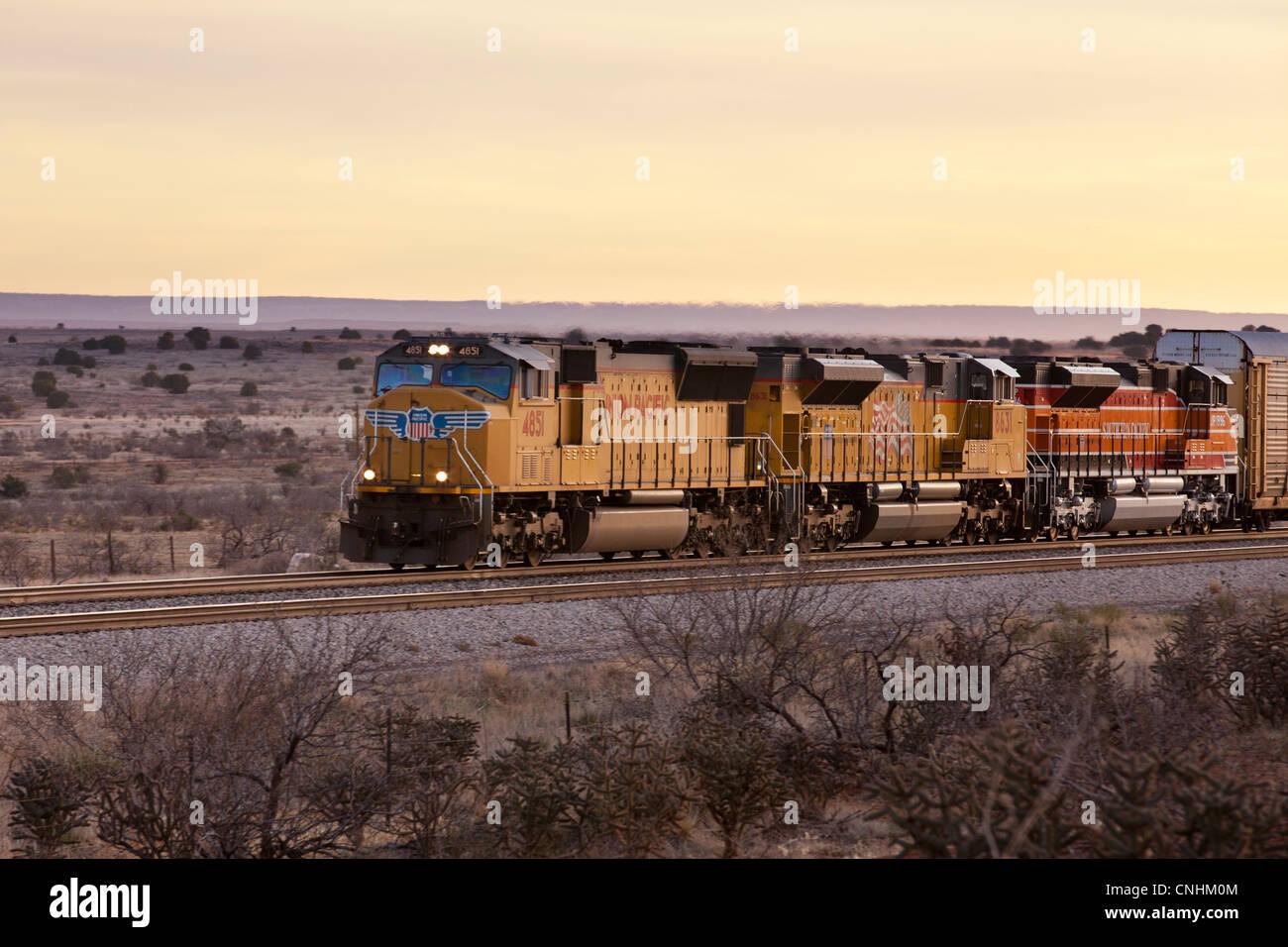 Union Pacific Railroad EMD SD70 series locomotive Stock Photo