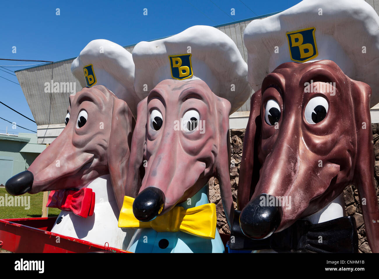 Doggie Diner heads of San Francisco - Stock Image