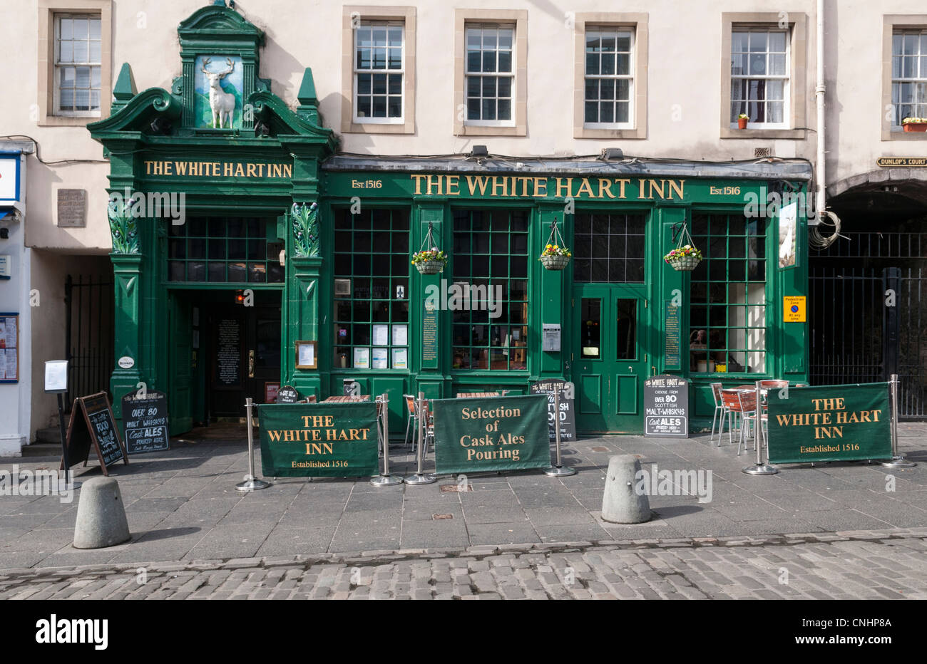 White Hart Inn pub on the Grassmarket, Edinburgh, Scotland - Stock Image