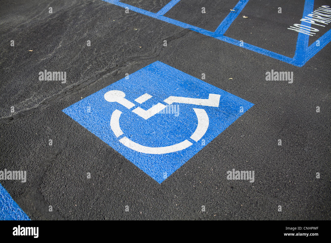 Disabled parking space - Stock Image