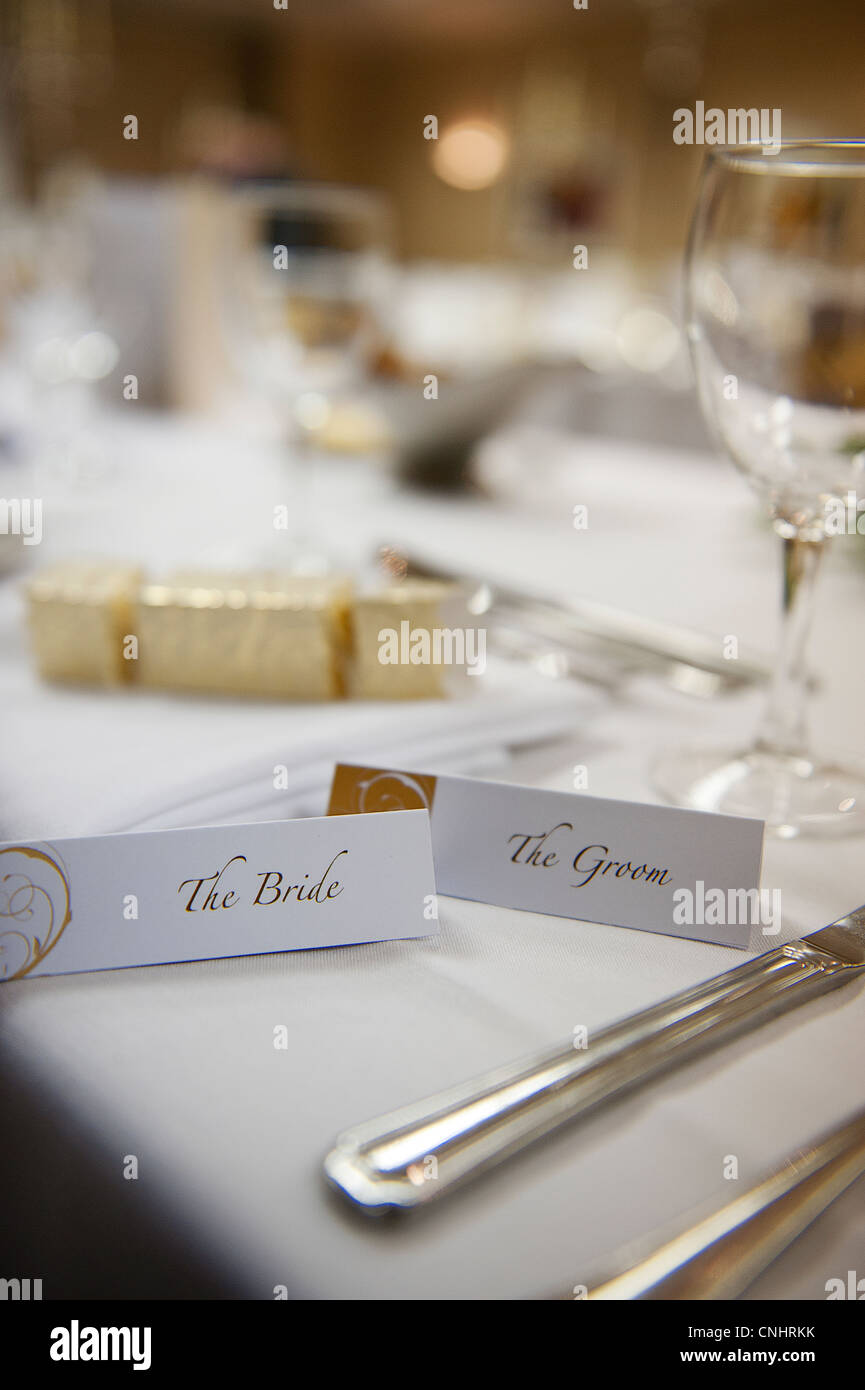 wedding breakfast reception tables with candles, gifts, favours and ...