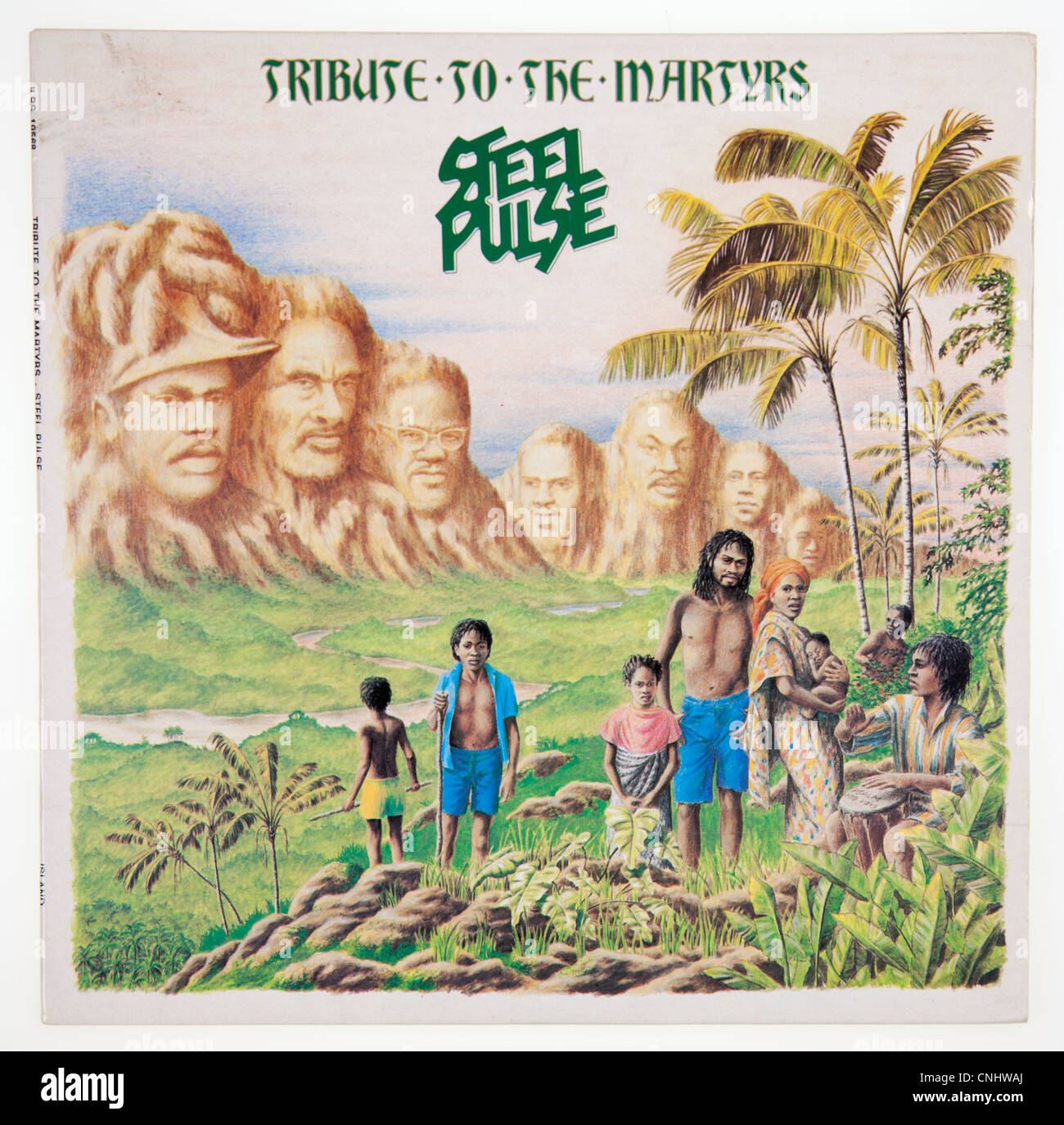 Cover of vinyl album 'Tribute to the Martyrs' by Steel Pulse released 1979 on Islands Records - Stock Image