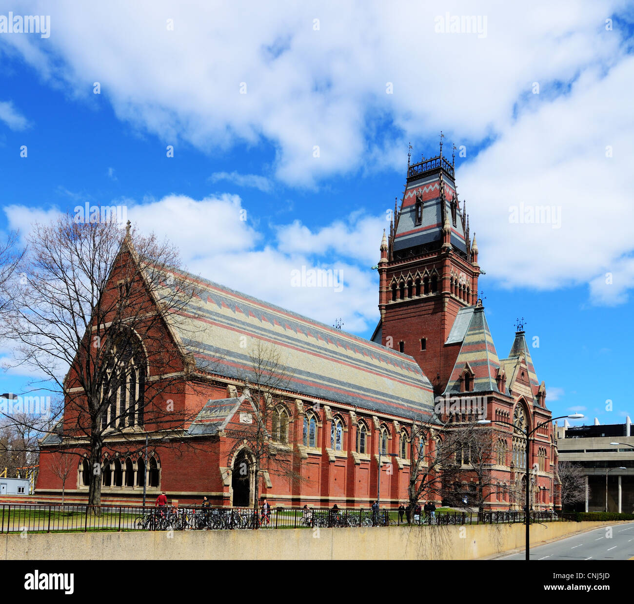 Memorial Hall at Harvard in Cambridge, Massachusetts, USA. - Stock Image