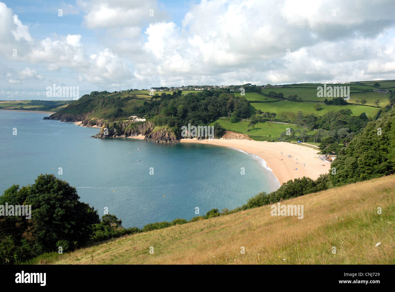 Blackpool Sands South Devon Coast Path - Stock Image