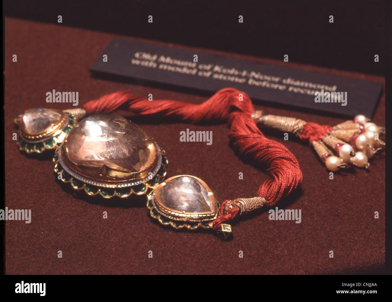 Crown Jewels, The Koh-i-Noor Diamond. - Stock Image