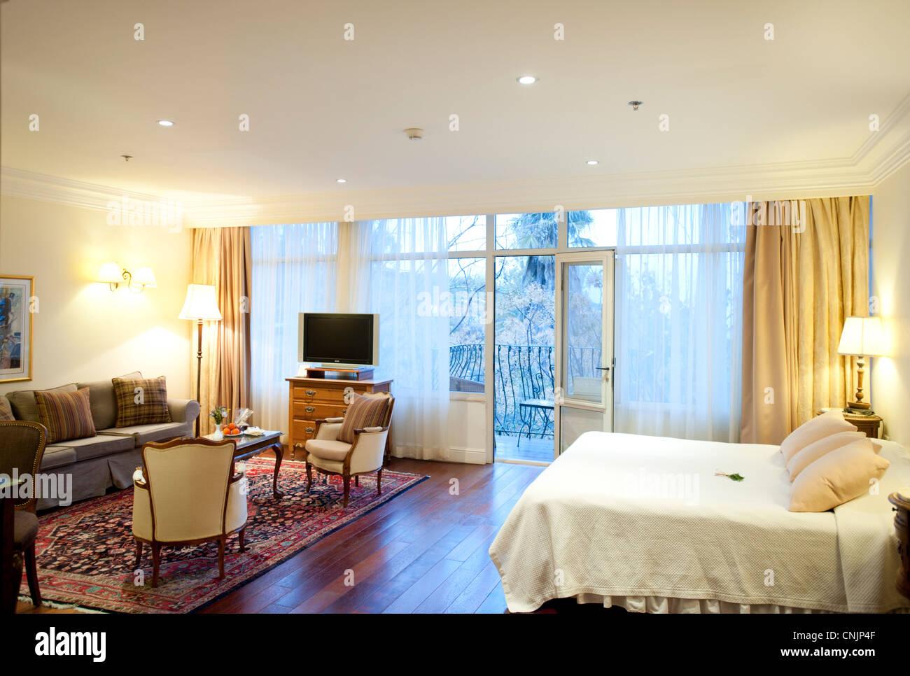 Middle East Israel Rosh Pina resort Hotel Mizpe Hayamim Luxury bedroom - Stock Image