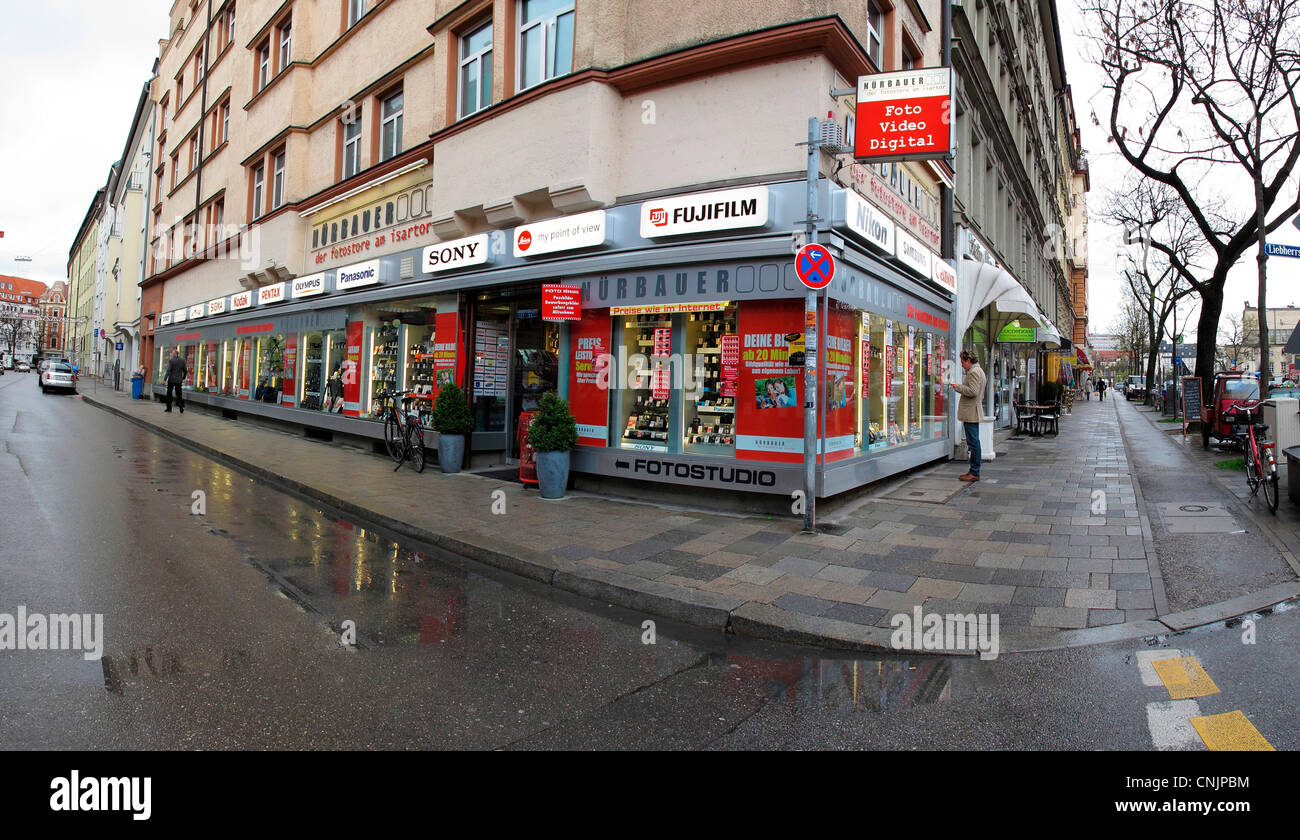 5ebd8821f2 Second hand camera shop Munich Germany Stock Photo  47741224 - Alamy
