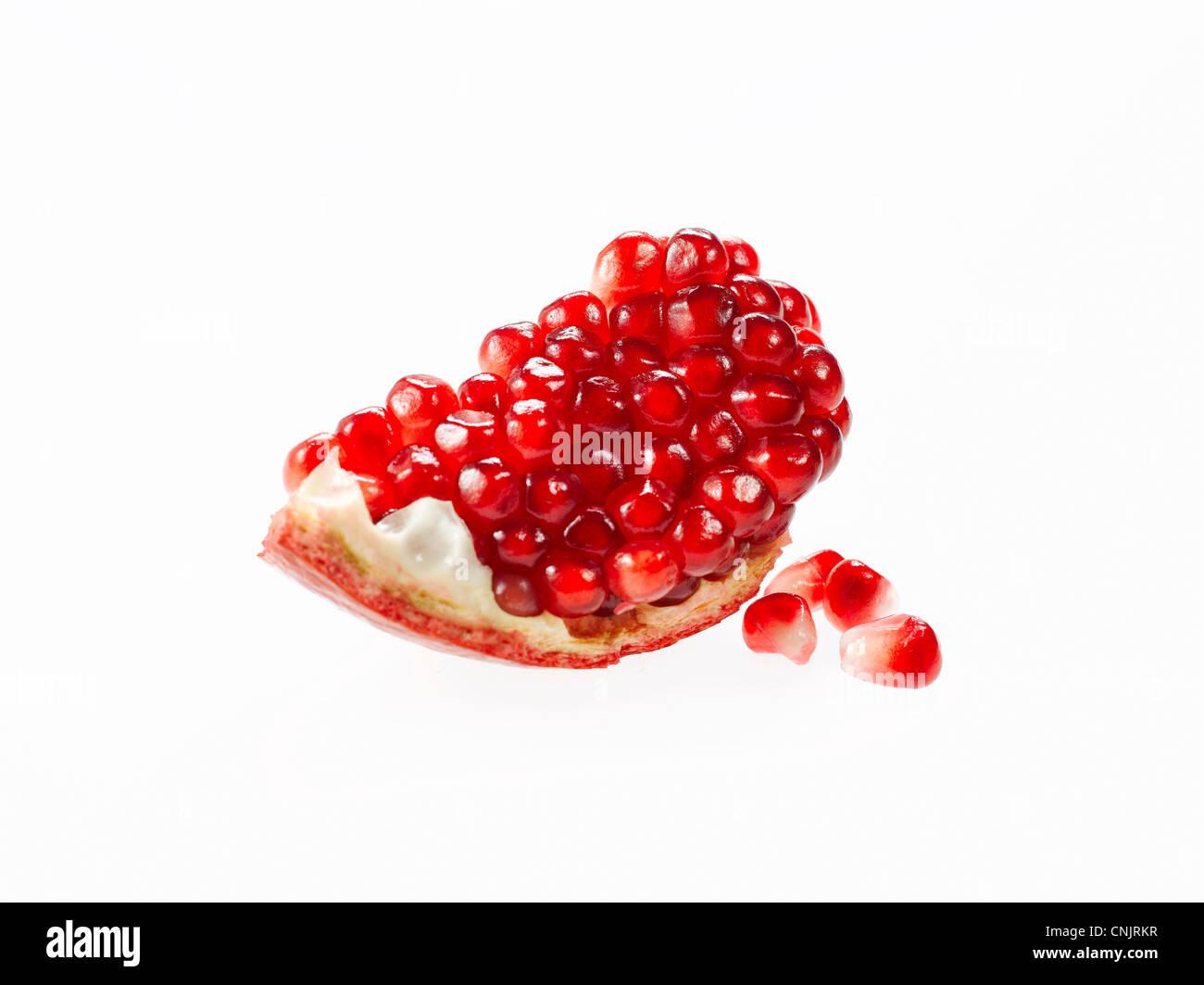 pomegranate seeds - Stock Image