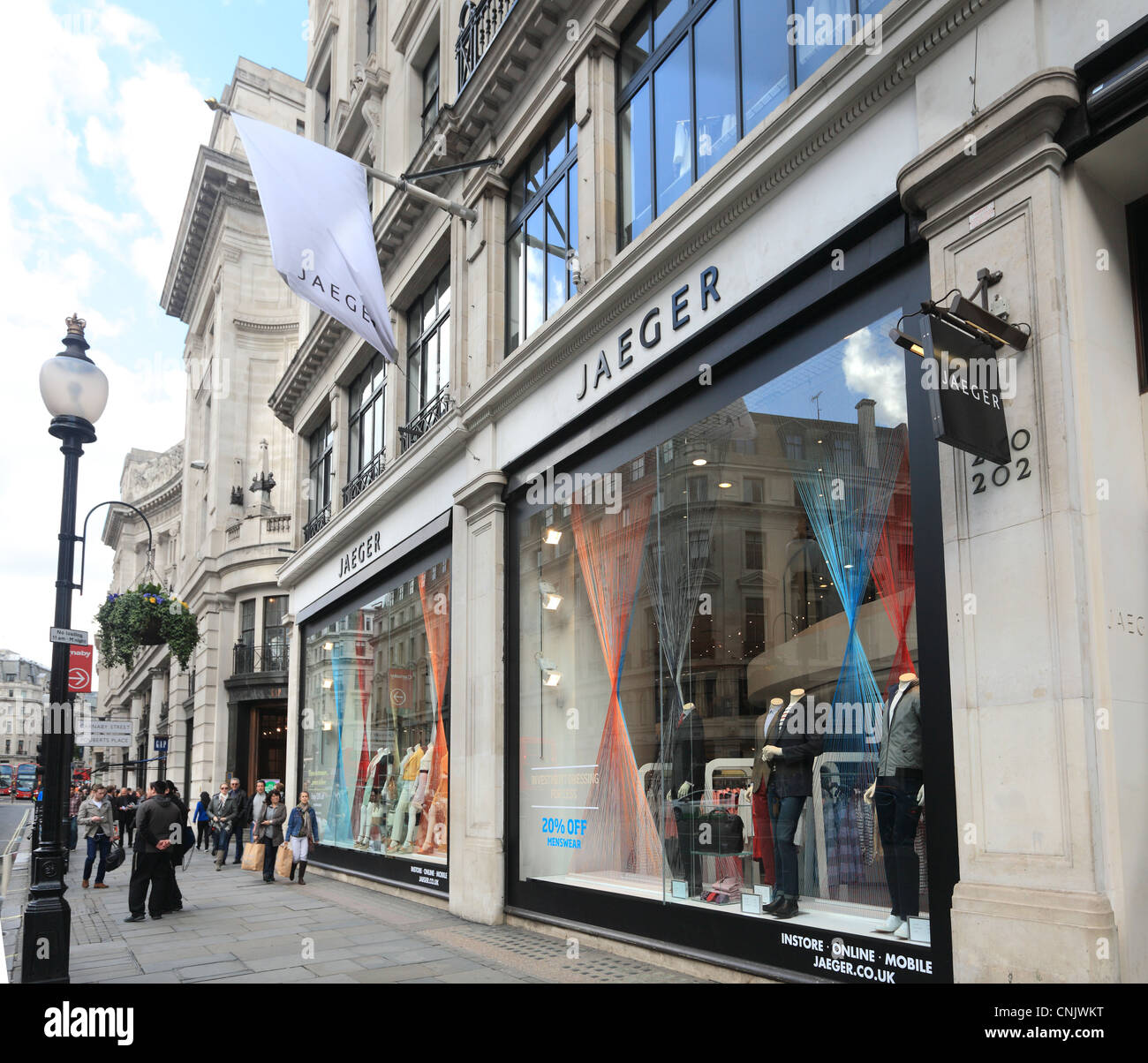 Jaeger Flagship Store in Regent Street London - Stock Image