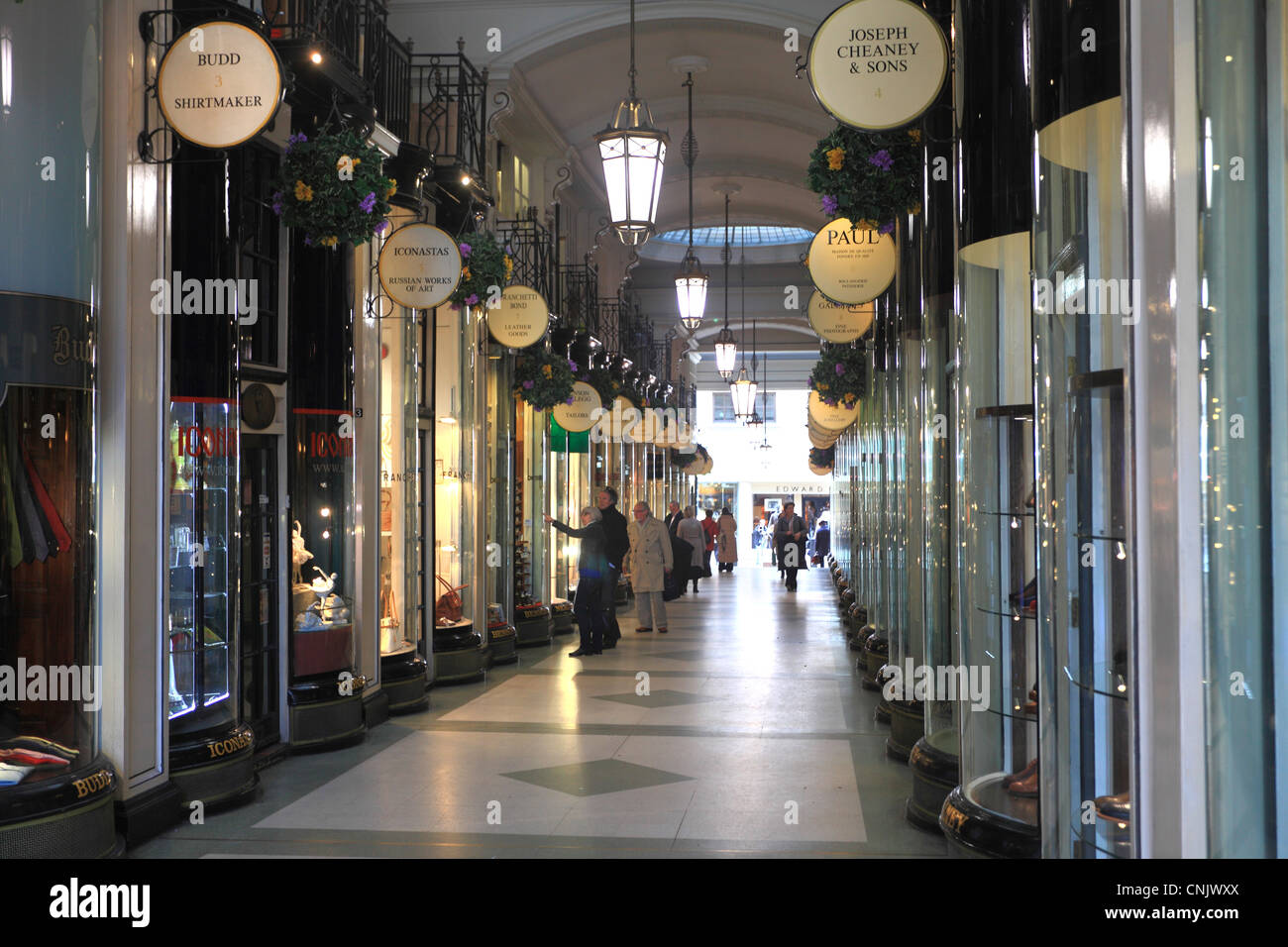 The Piccadilly Arcade Mayfair St James London - Stock Image