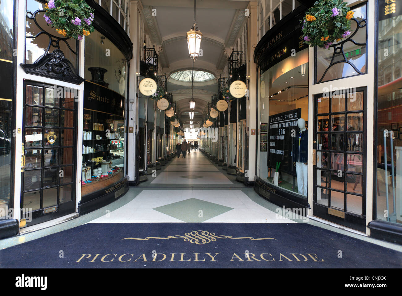 The Piccadilly Arcade Mayfair London - Stock Image
