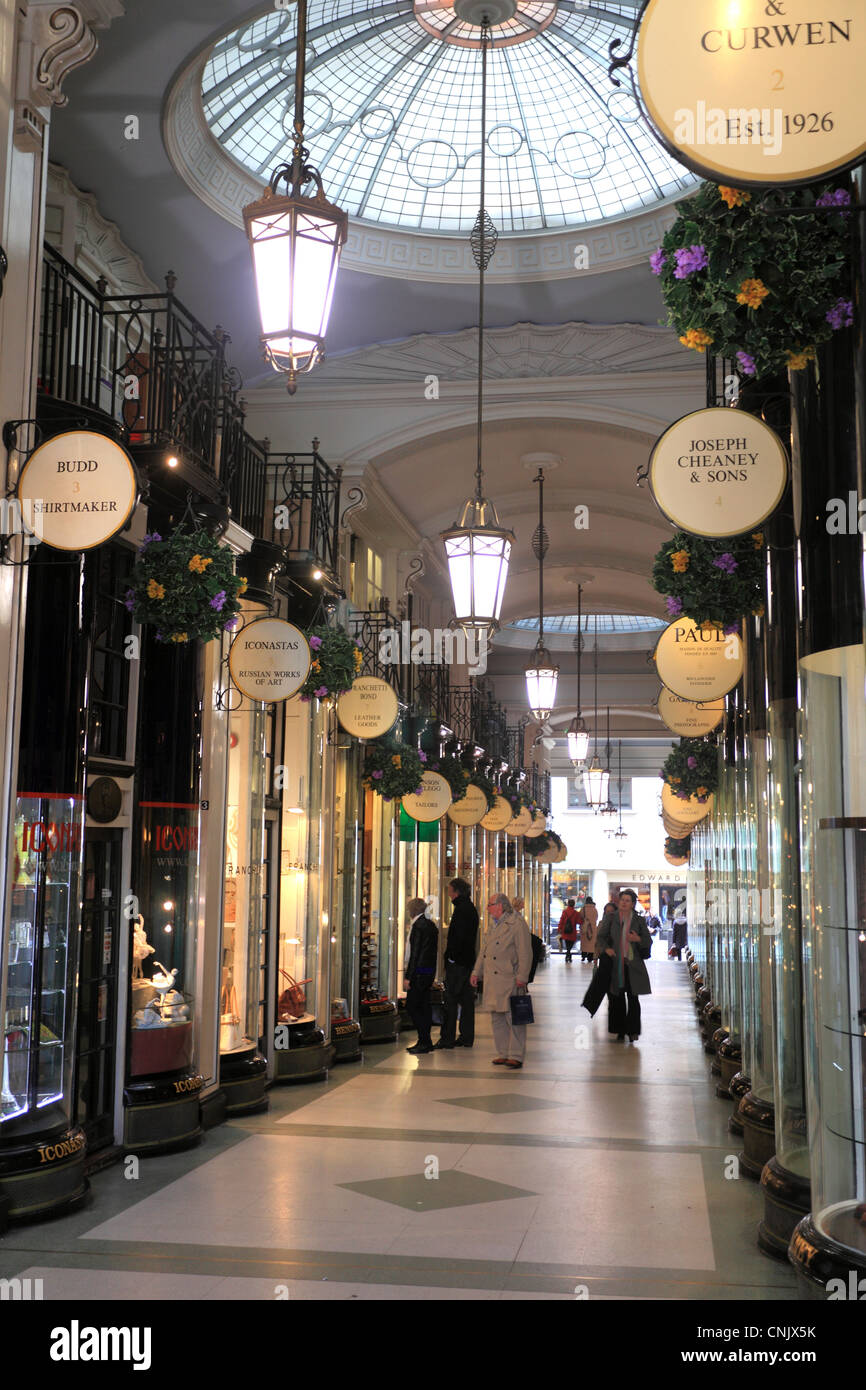 The Piccadilly Arcade Mayfair St James London Stock Photo