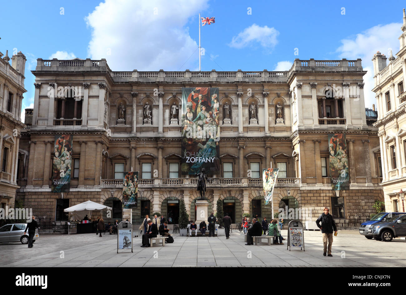 The Royal Acadamy Piccadilly London - Stock Image