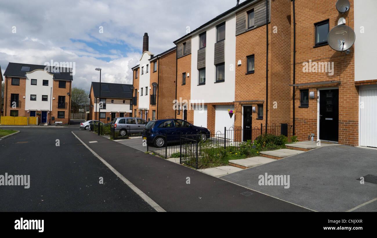 Modern social housing development - Stock Image