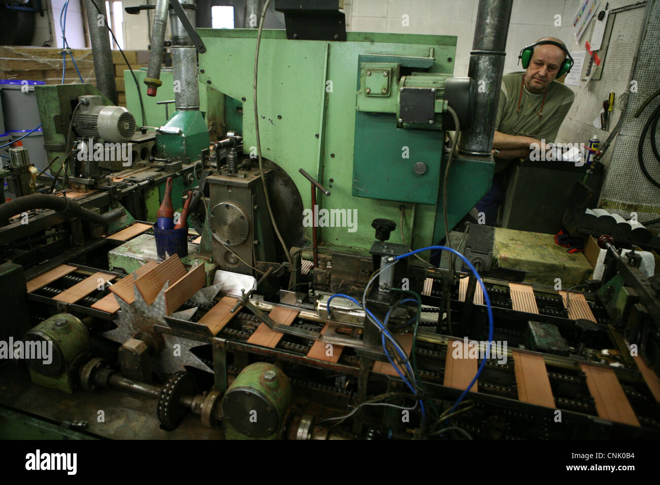 Koh-i-Noor Hardtmuth. Famous pencil manufacturer in Ceske Budejovice, Czech Republic. - Stock Image