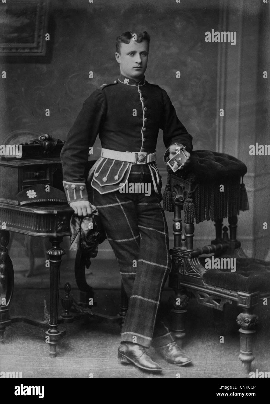 Scottish Highlander of the 71st Highland light infantry regiment. Victorian soldier. - Stock Image
