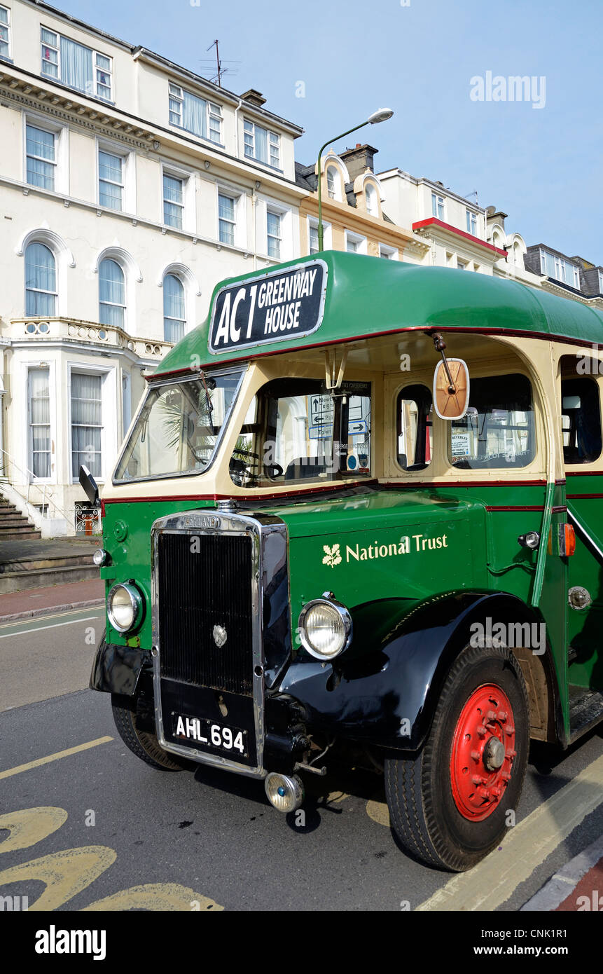 The ' Agatha Christie '  tour bus in Torquay, Devon, England, UK - Stock Image