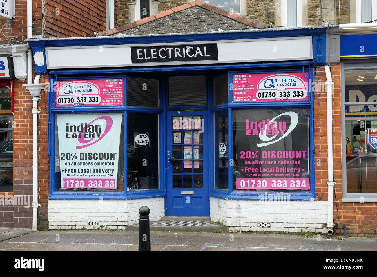 Vacant shops and stores for sale Petersfield Hampshire - Stock Image