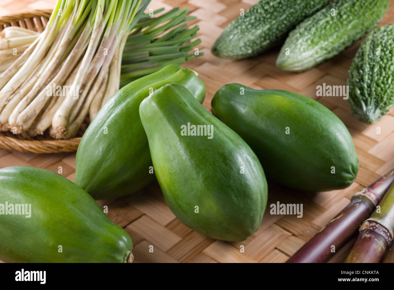 Okinawan Vegetables - Stock Image