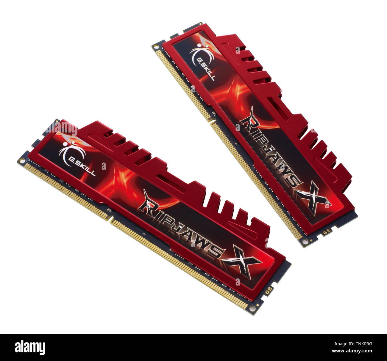 Computer Random Access Memory modules - Stock Image