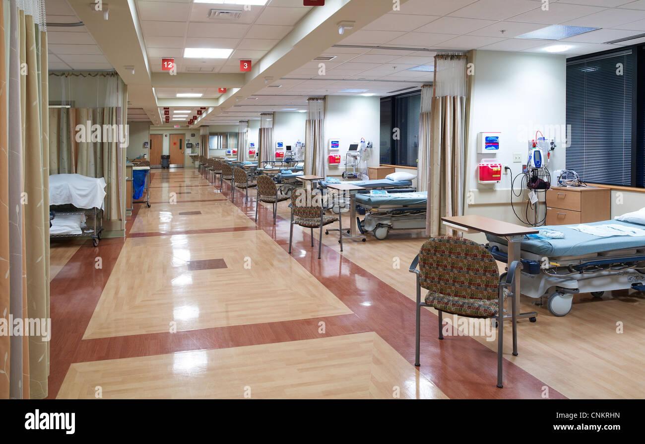 Hospital Post Operative Recovery Room Stock Photo