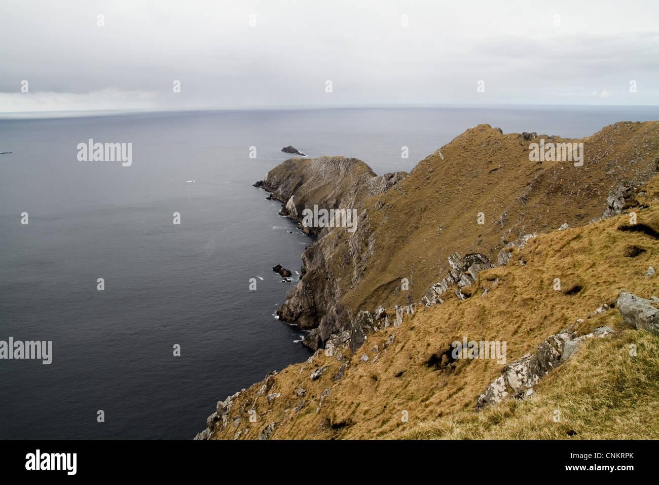 Sea cliffs at Achill Head, Mayo, Ireland - Stock Image