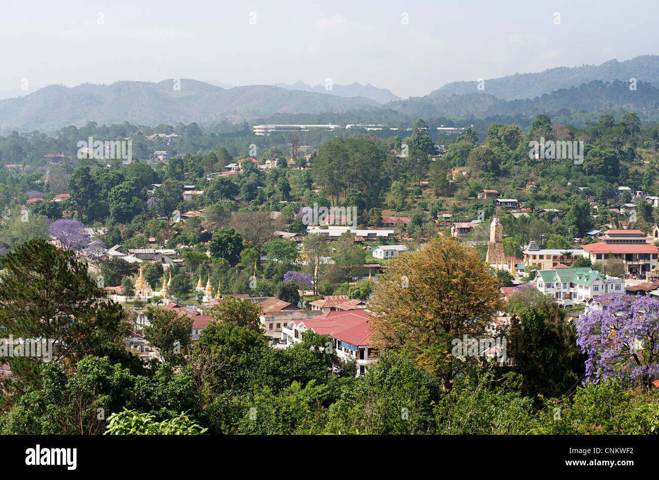 View of Kalaw, Burma. Myanmar Stock Photo