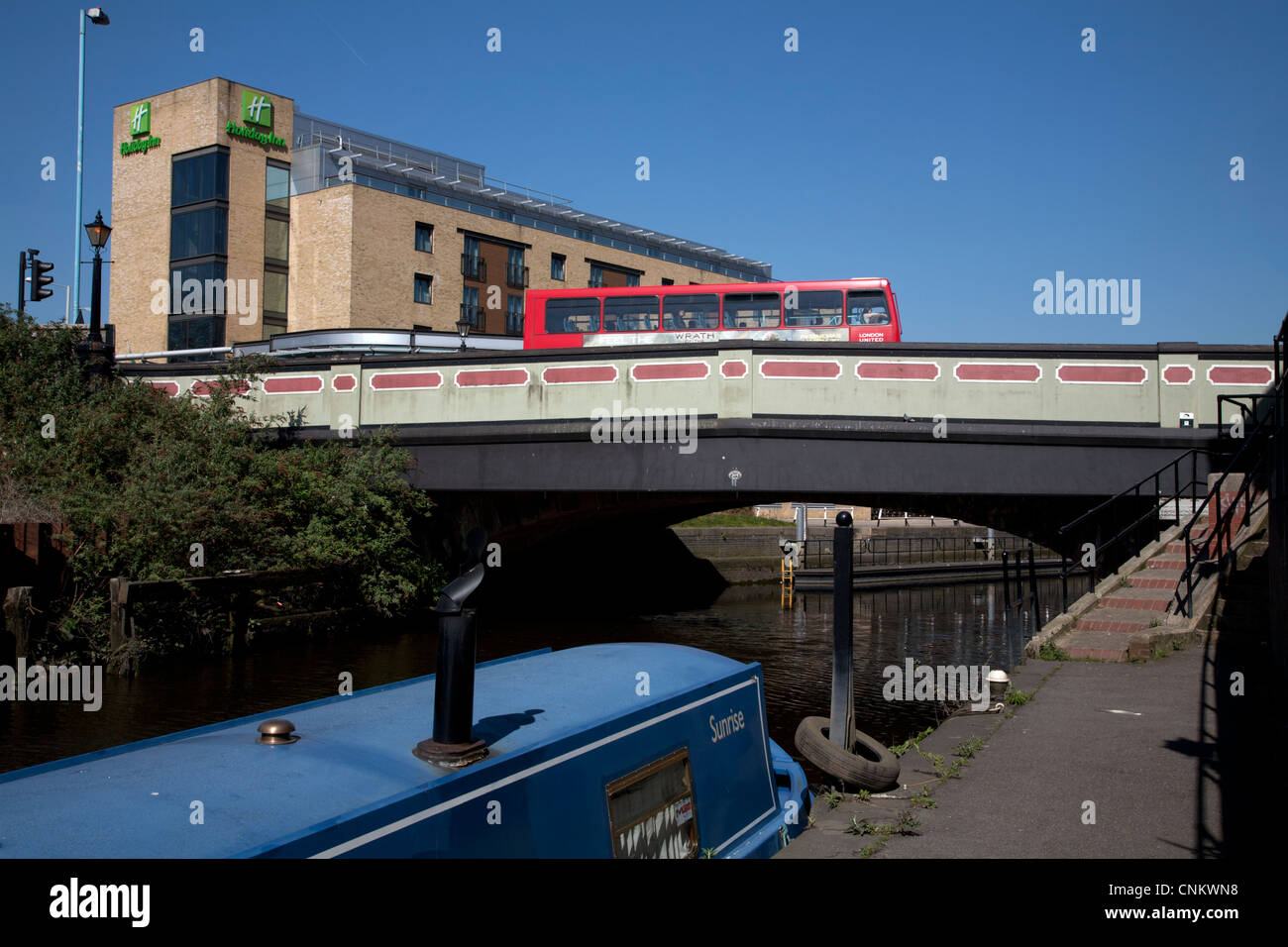 grand union canal/river brent brentford london england - Stock Image
