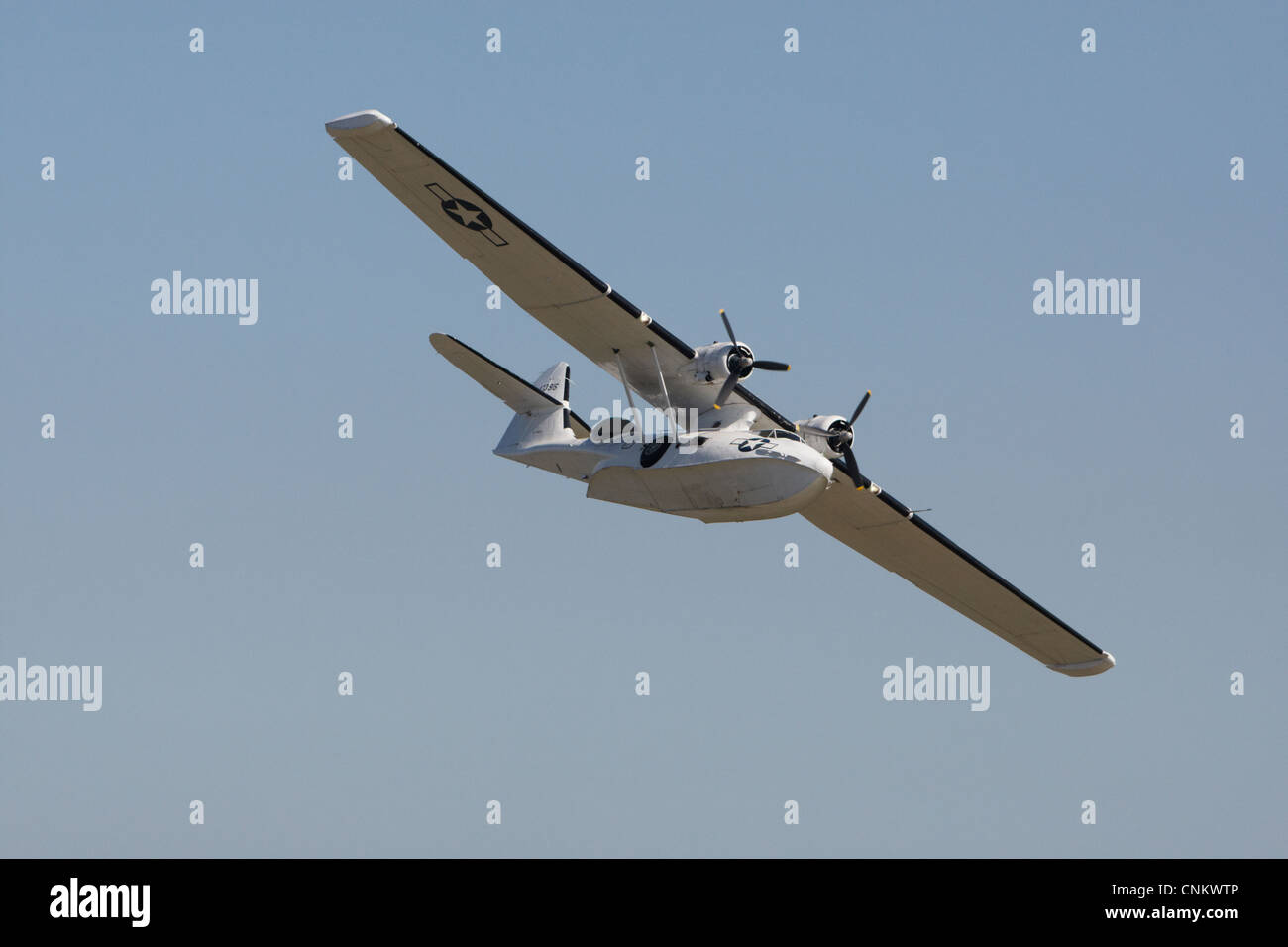 Convair PBY-5A Catalina flying at an air show - Stock Image
