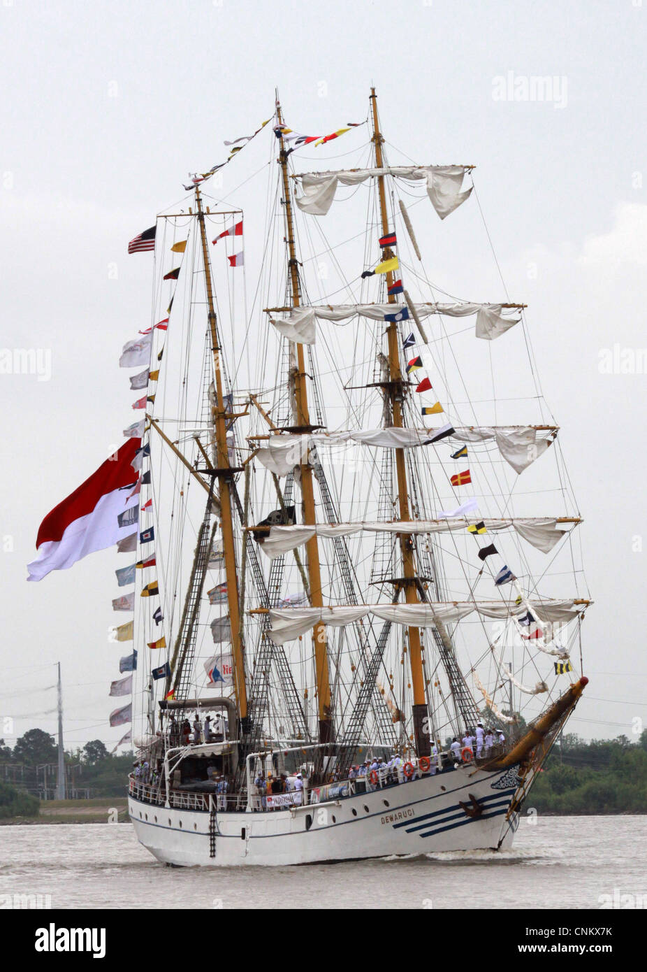 The Indonesia tall ship Dewaruci arrives in New Orleans as part of The War of 1812 Bicentennial Commemoration. The - Stock Image