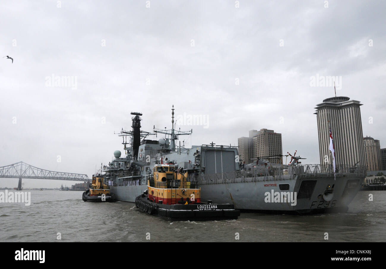 The Canadian Royal Navy ship HMCS St. John's arrives in New Orleans as part of The War of 1812 Bicentennial - Stock Image