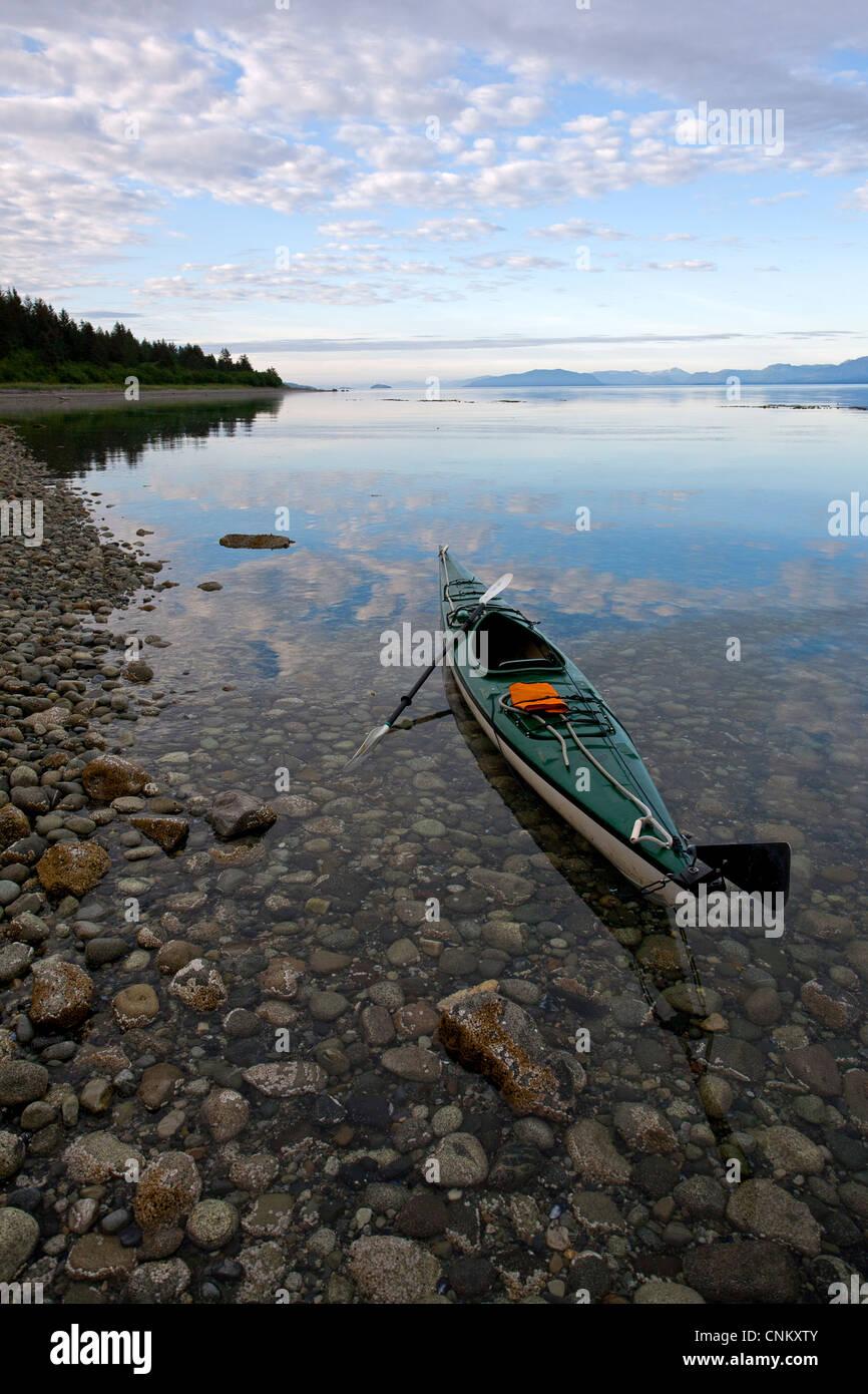 Kayak in Glacier Bay. Alaska. USA - Stock Image