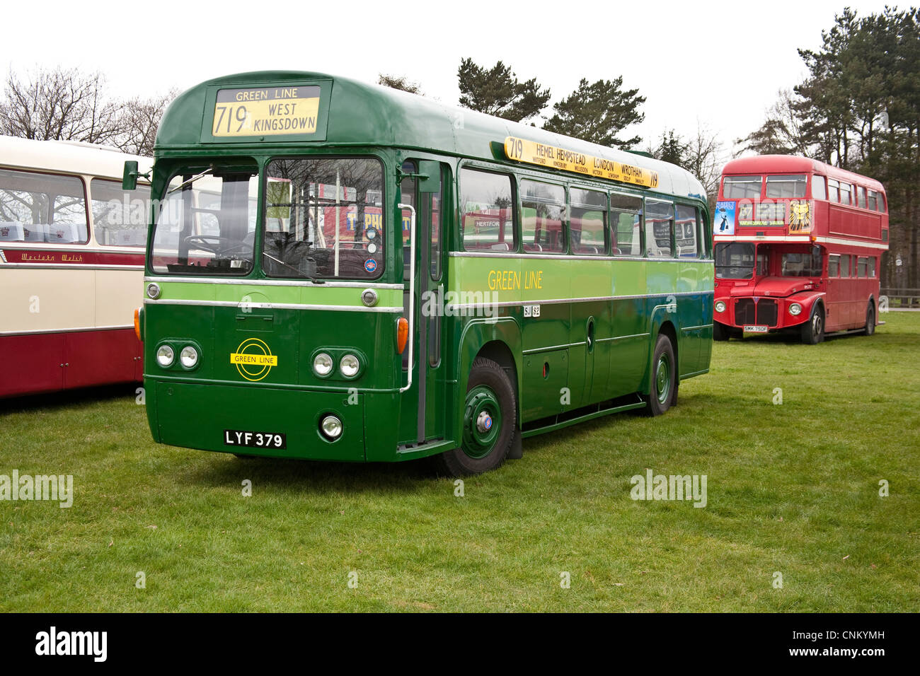 Green Line AEC RF Bus - Stock Image