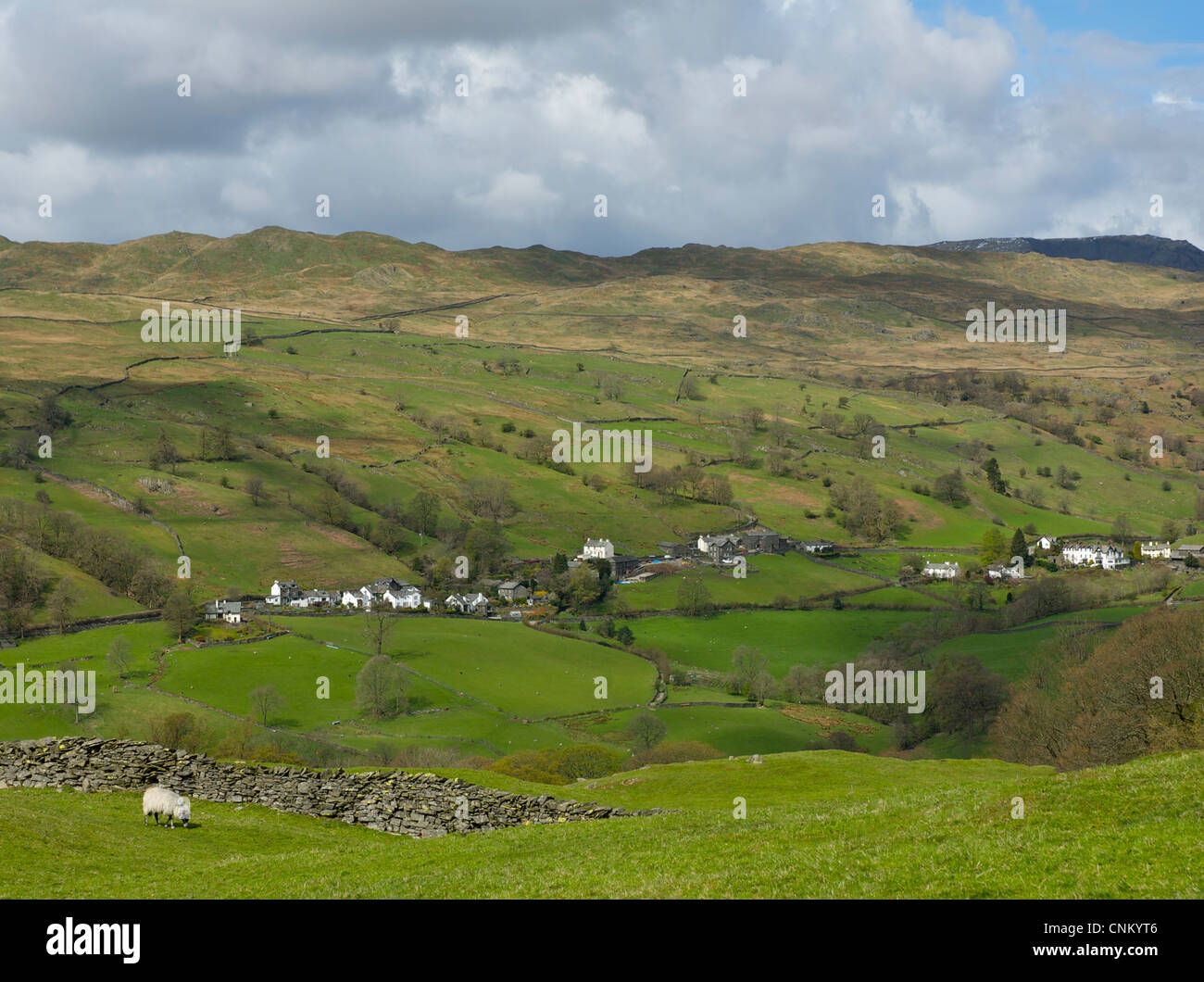 The village of Troutbeck, Lake District National Park, Cumbria, England UK - Stock Image
