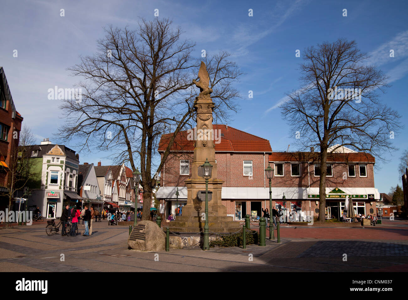 war monument at Mühlenstraße Emden, East Frisia, Lower Saxony, Germany - Stock Image