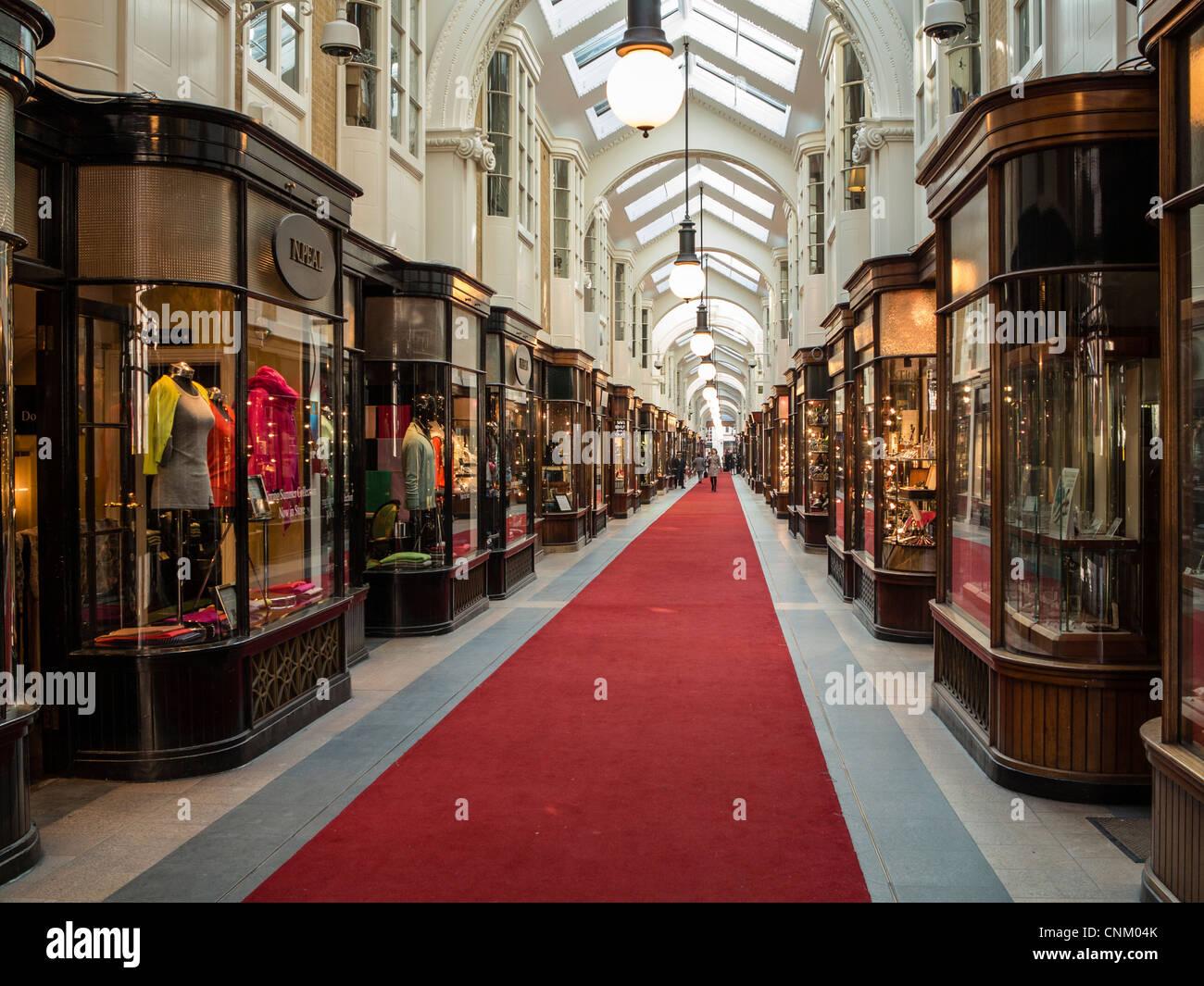 Burlington Arcade in central London, UK - Stock Image