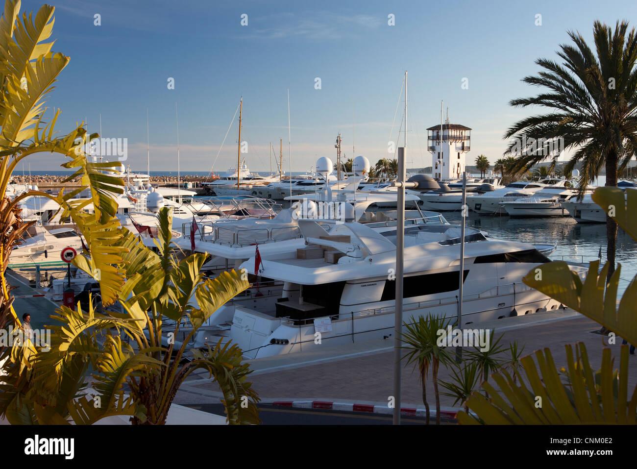 Puerto Portals in Majorca, Spain - Stock Image