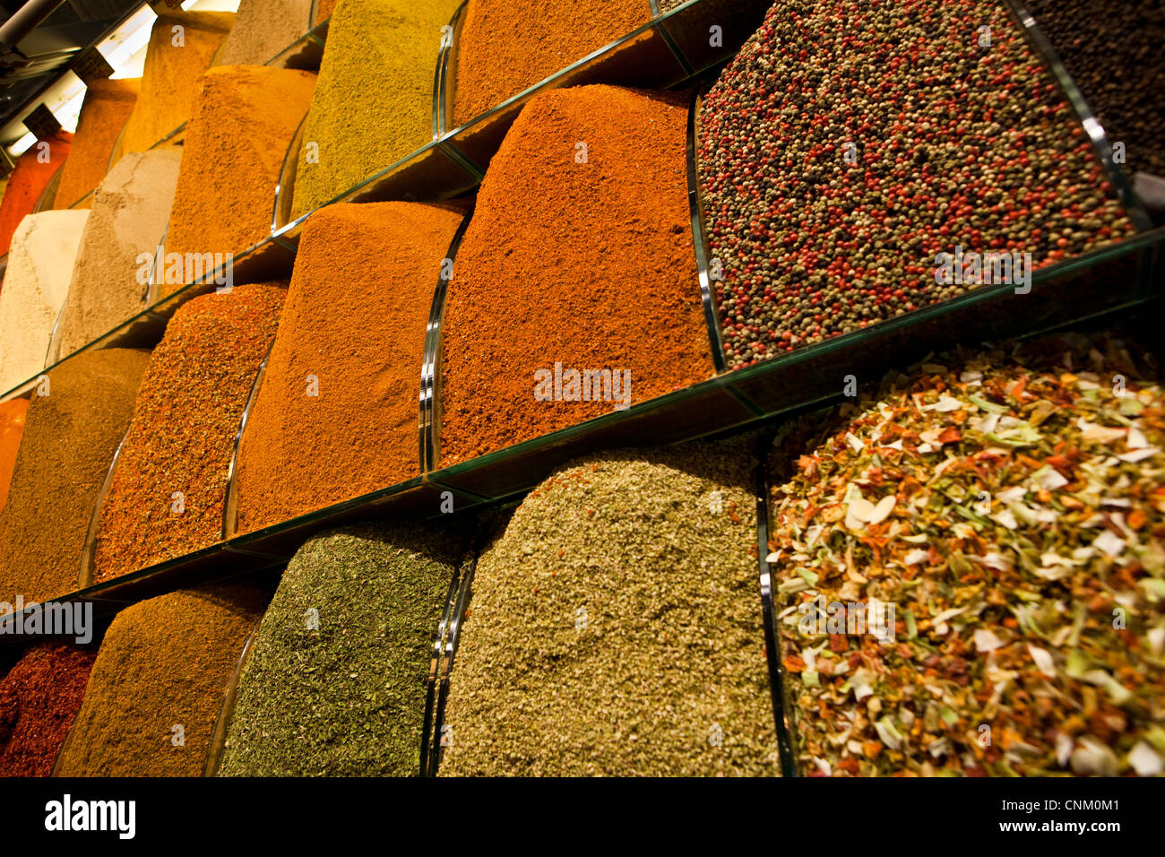 spices at the Egyptian Bazaar, Istanbul, Turkey - Stock Image