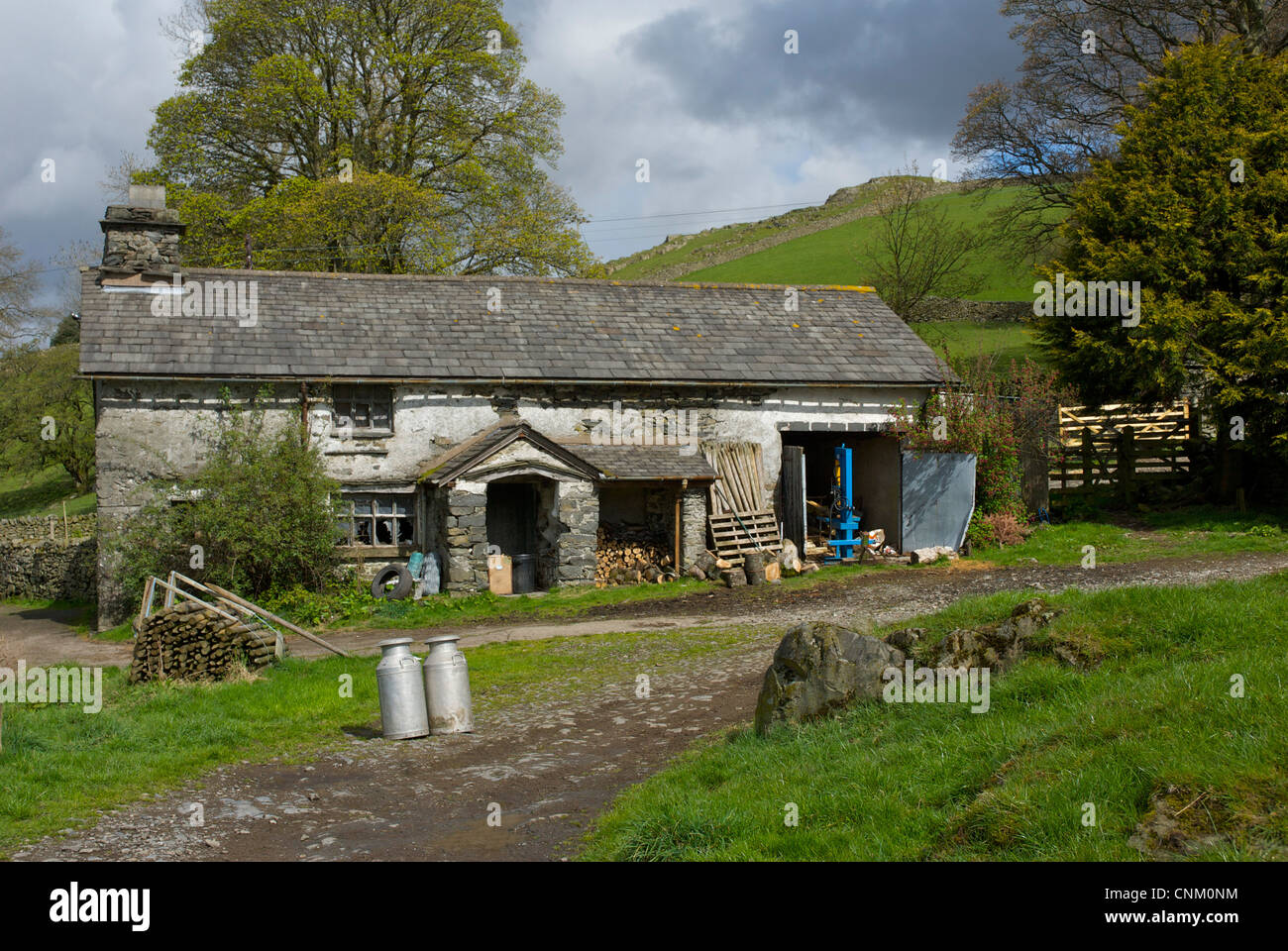 Far Orrest Farm, near Windermere, Lake District National Park, Cumbria England UK - Stock Image
