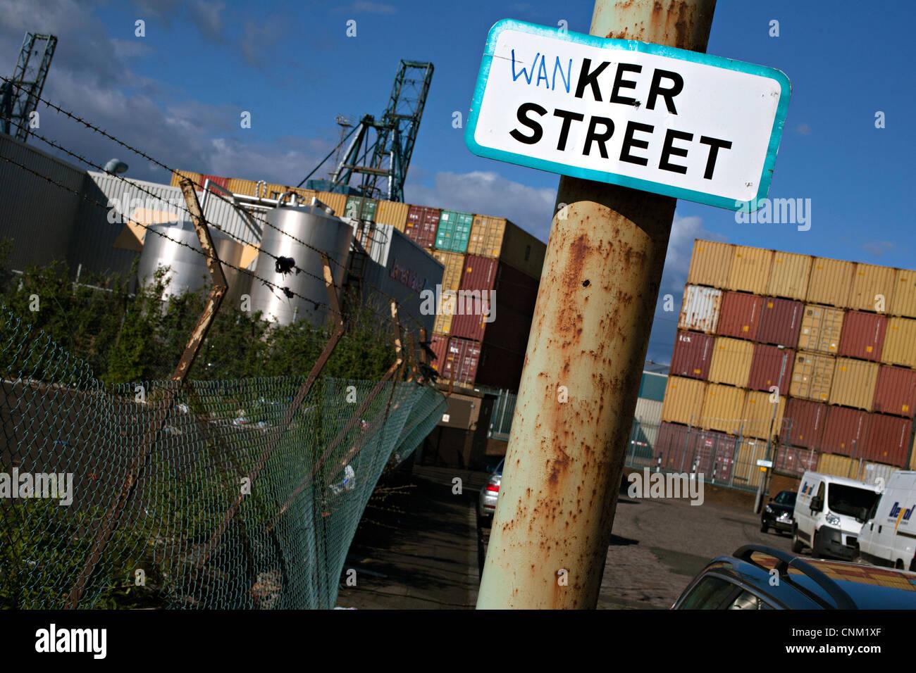 ker street greenock scotland - Stock Image