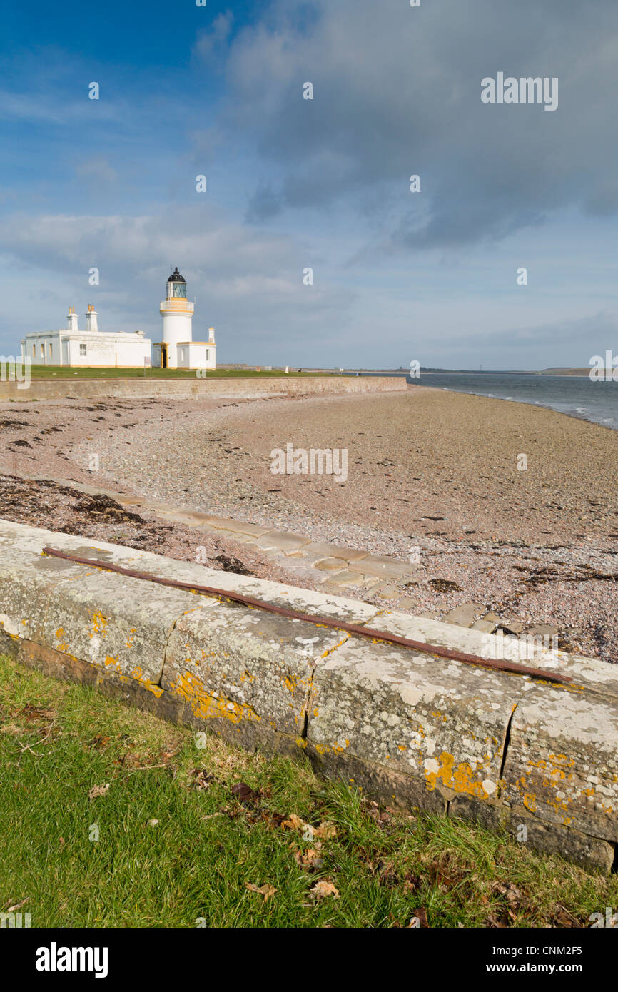 Chanonry Point; Moray Firth; Black Isle; Scotland; UK; lighthouse - Stock Image