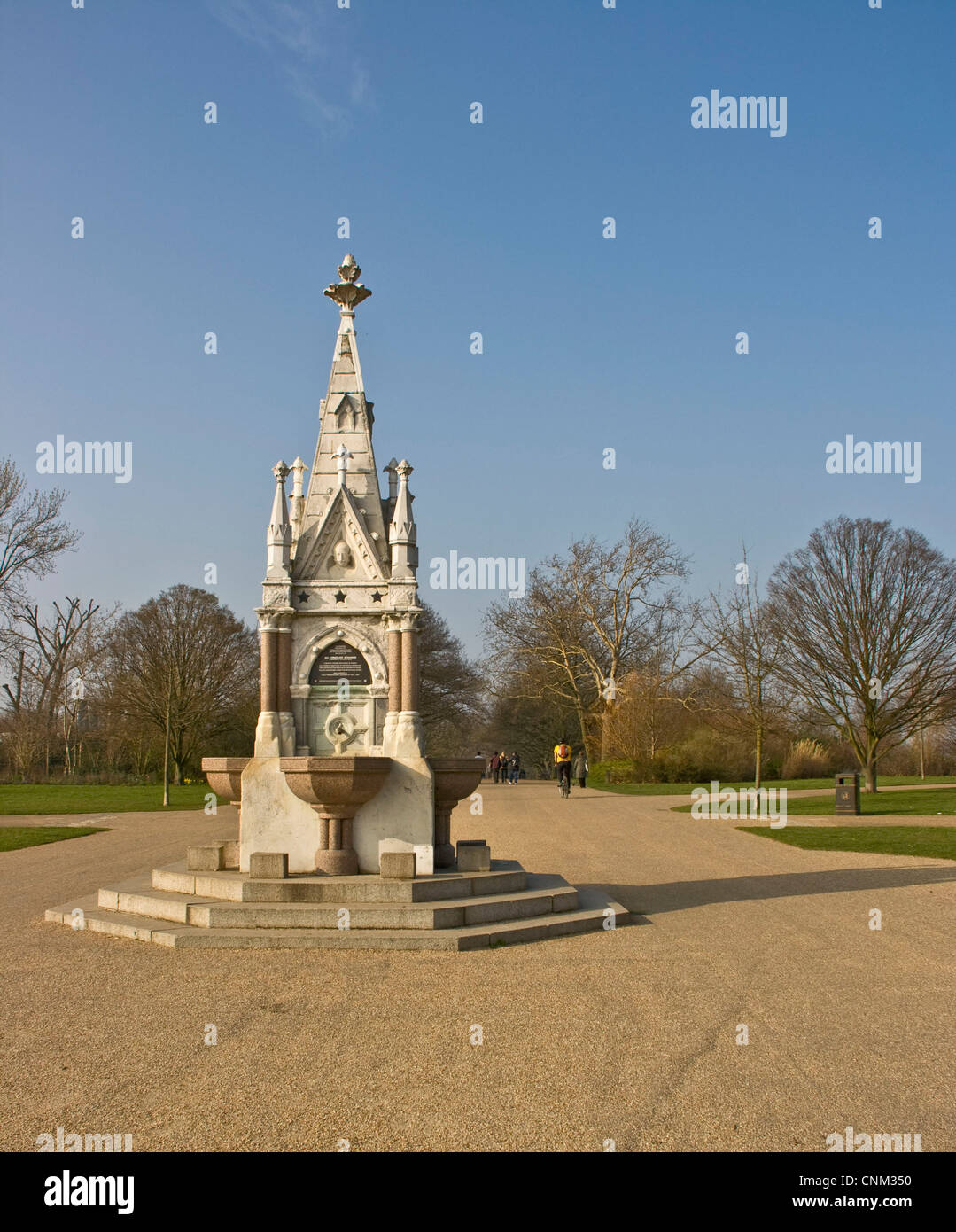 The Ready Money marble and granite drinking fountain in Regent's Park London England Europe - Stock Image