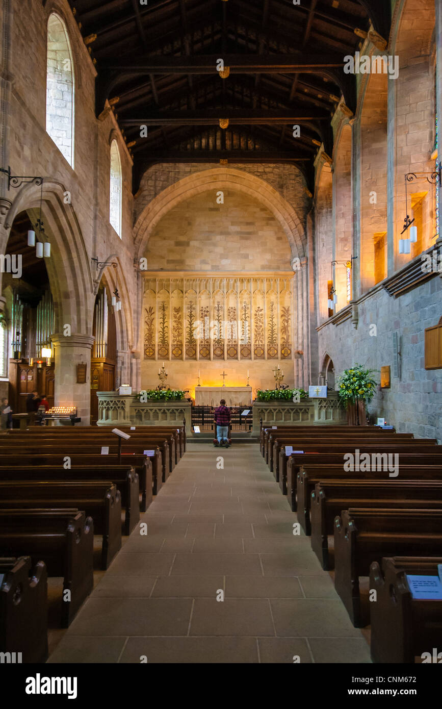 St Mary & St Cuthbert Church at Bolton Abbey, Wharfedale, North Yorkshire. - Stock Image