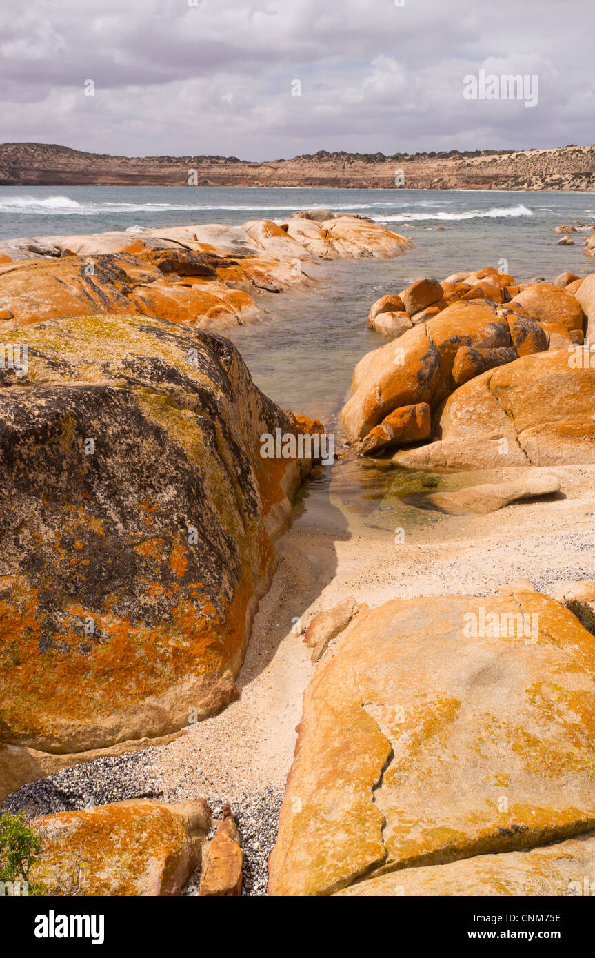 The Granites at Westall Bay near Streaky on the west coast of the Eyre Peninsula in South Australia - Stock Image