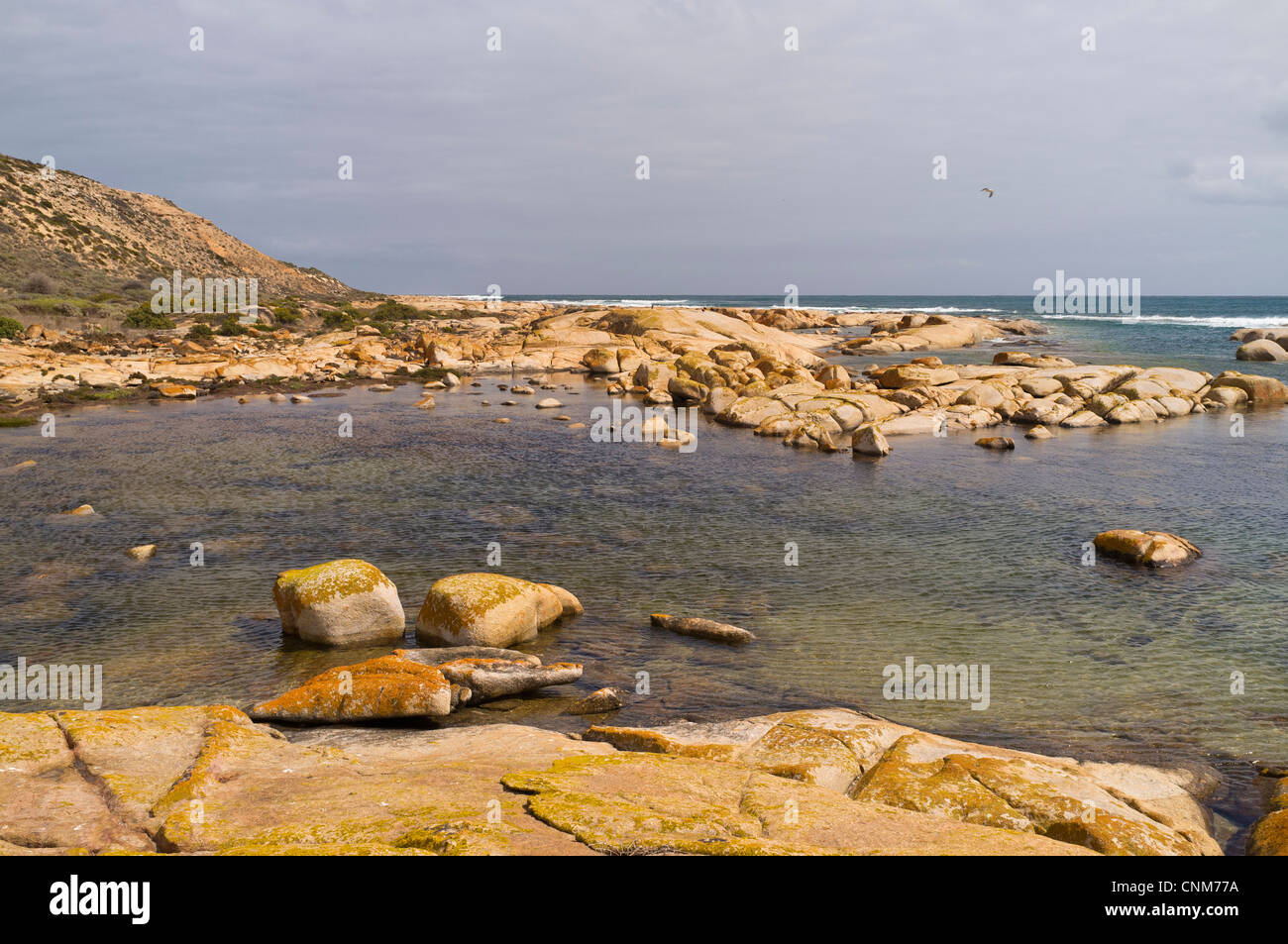 The Granites at Westall Bay on the Great Australian Bight near Streaky Bay on the west coast of the Eyre Peninsula - Stock Image