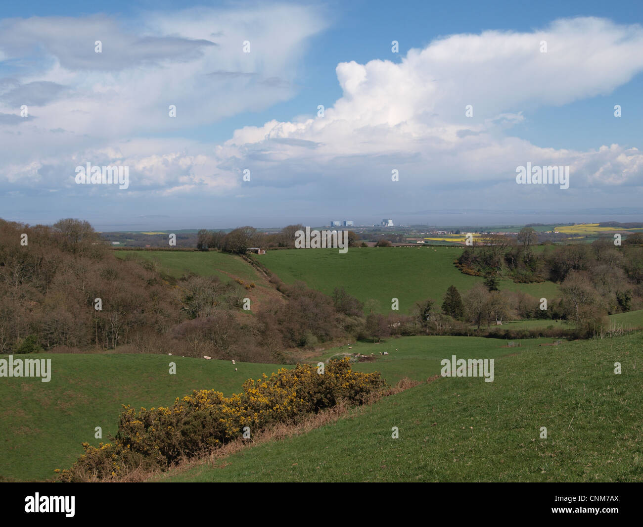 Hinkley Point Nuclear Power Station. Bristol Channel. Somerset. - Stock Image
