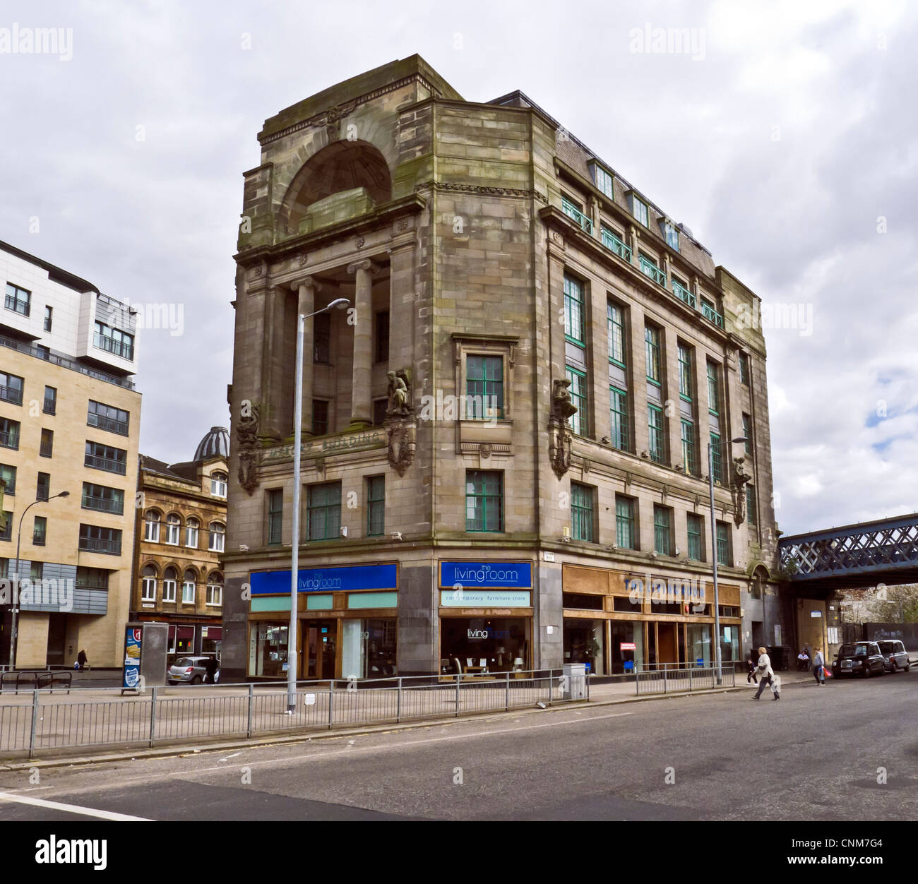 The Mercat Building in Gallowgate by Glasgow Cross in the east end of Glasgow. - Stock Image