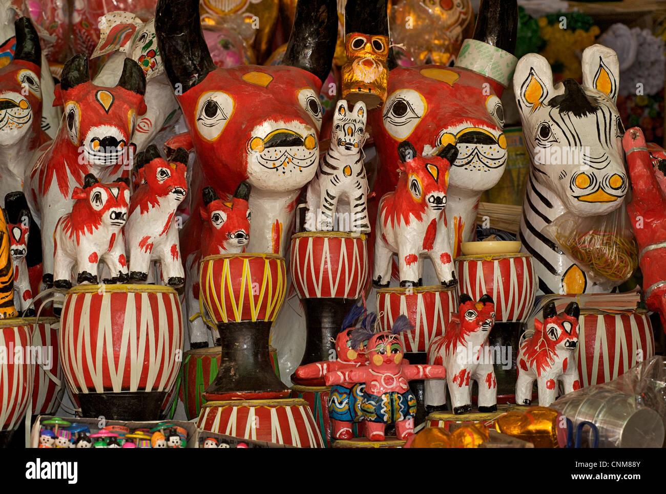 Handicrafts For Sale At Market Rangoon Burma Myanmar Stock Photo
